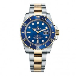 Rolex Submariner Date Steel & 18K Yellow Gold Blue Ceramic Bezel 116613LB