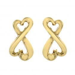 Tiffany & Co. Paloma Picasso Double Loving Hearts Earrings 18K Yellow Gold