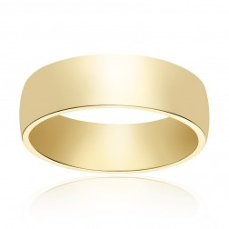 6.0mm 14K Yellow Gold Comfort Fit Wedding Band