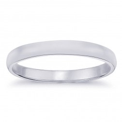 3.7mm 14K White Gold Comfort Fit Wedding Band