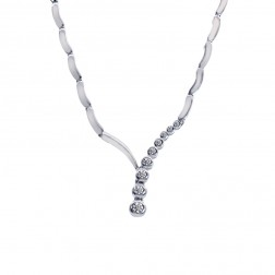 0.50 Carat Diamond Drop Necklace 14K White Gold