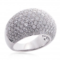 Elegant 5.00 Carat Women Pave Diamond Ring 18K White Gold