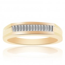 0.40 Carat Baguette Cut Diamond Wedding Band 14K Yellow Gold
