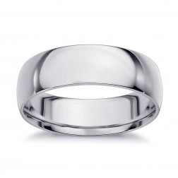 5.8mm 14K White Gold Comfort Fit Wedding Band Ring