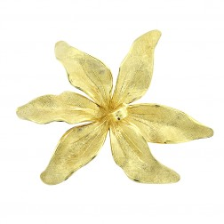 14K Yellow Gold Tiffany & Co. Flower Vintage Brooch Pin