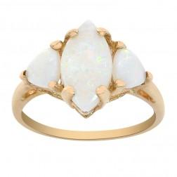 1.90 Carat Opal Ring 10K Yellow Gold