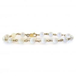 7 mm Freshwater Pearl Bracelet 14K Yellow Gold