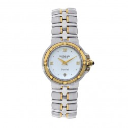 Raymond Weil Parsifal Stainless Steel Two Tone Ladies Watch White Dial 9990