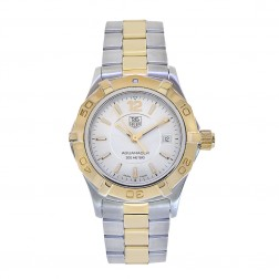 Tag Heuer Aquaracer Stainless Steel/Yellow Gold Tone Ladies Watch WAF1420