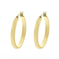 14K Yellow Classy Gold Ring Dangle Hoop Earrings 3.5gram