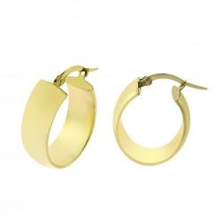 14K Yellow Gold Elegant Oval Dangle Hoop Earrings 2.7gram
